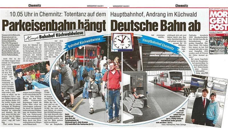 Presseschau - MoPo Chemnitz | Parkeisenbahn Chemnitz
