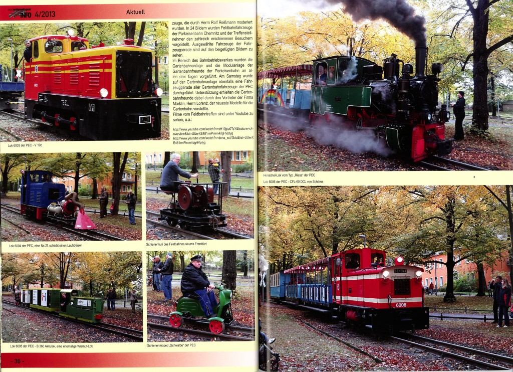 """IFBT2013 - Artikel in """"Schmalspur INFO"""""""