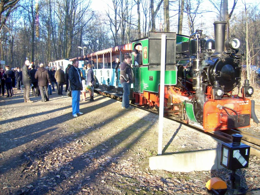 Erster Halt am Bahnbetriebswerk